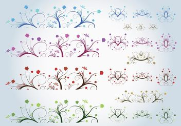 Spring Ornaments - Free vector #143077
