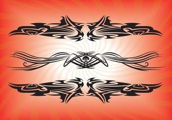 Vector Tribal Tattoos - Free vector #143157