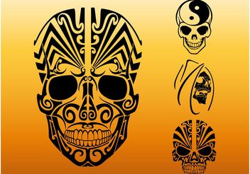 Tribal Skulls - Free vector #143177