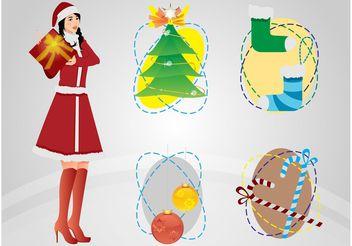 Christmas Art - vector gratuit #143207