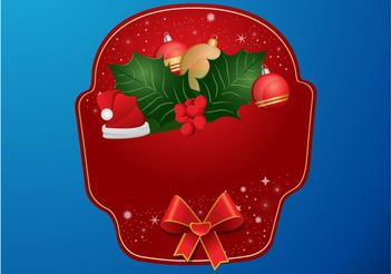 Christmas Label Vector - vector gratuit #143227