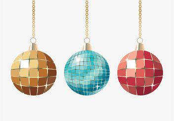 Christmas Glitter Balls - Free vector #143317
