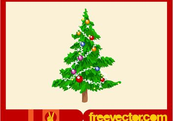 Christmas Tree Footage - vector gratuit #143327