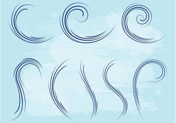 Waving Lines Graphics Set - Free vector #143397