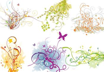 Arabescos Swirl Flourish Vector - бесплатный vector #143467