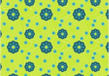 Floral Pattern Wallpaper - vector gratuit #143497