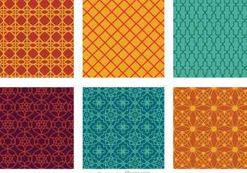 Morocco Seamless Vector Patterns - Free vector #143577