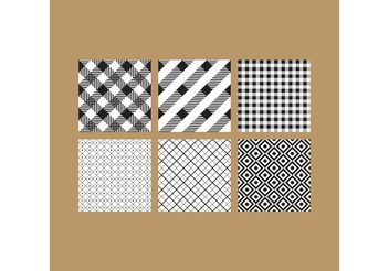Simple B&W Patterns 6 - Free vector #143657