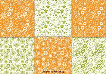 Floral Spring Pattern Vectors - Free vector #143677