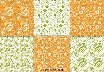 Floral Spring Pattern Vectors - Kostenloses vector #143677