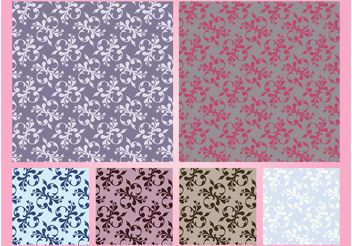 Floral Patterns Vector Graphics - Kostenloses vector #143807