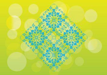Floral Pattern Tile - vector #143887 gratis