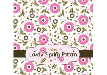 Lovely Spring Floral Pattern - vector gratuit #143897