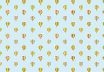 Air Balloon Pattern Background - vector gratuit #143927
