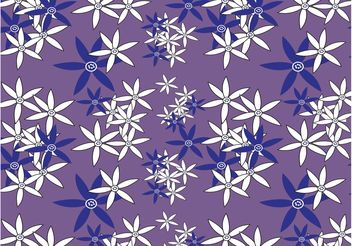 Violets Pattern - Free vector #143977