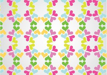 Love Pattern Vector - vector gratuit #144007