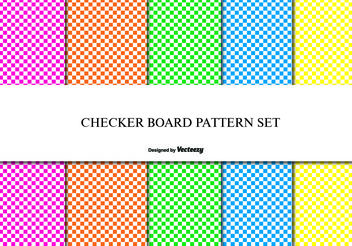 Checker Board Pattern Set - vector gratuit #144087
