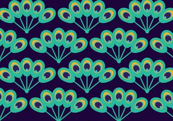 Peacock Beautiful Tail Pattern Vector - Free vector #144097