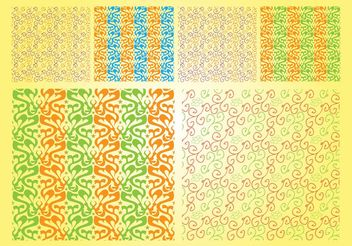 Organic Vector Patterns - Free vector #144117
