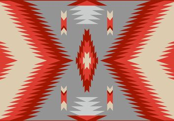 Antique Style Navajo Carpet Vector Pattern - Free vector #144147