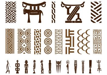 African Symbol Set - Free vector #144397