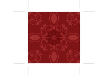 Red Flower Vector Pattern - vector gratuit #144557