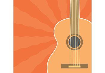 Guitar Vector - vector gratuit #144667