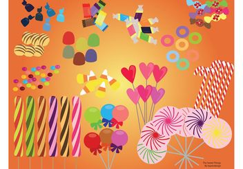 Sweet Candy Set - vector #144827 gratis