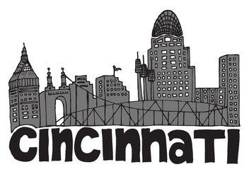 Free Cincinnati Skyline Vector - Kostenloses vector #144927
