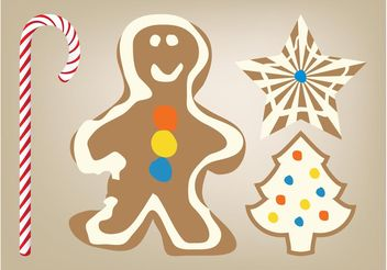 Christmas Cookies Vector - бесплатный vector #144947