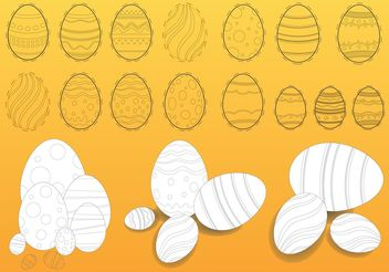 Easter Eggs Illustrations - Free vector #144957