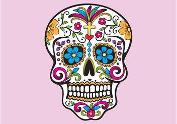 Mexican Skull - Free vector #144987