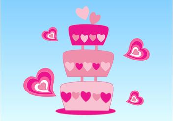 Lovely Cake - vector gratuit #145007