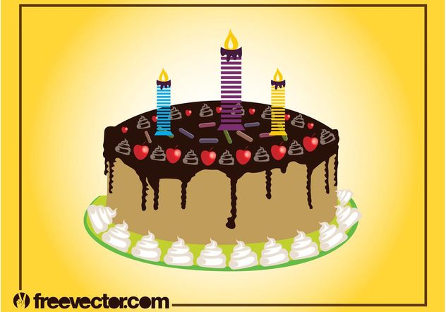 Birthday Cake Graphics - vector gratuit #145047