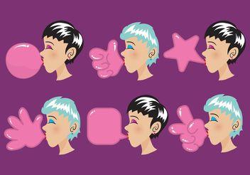 Bubblegum Vector Shapes - Free vector #145087