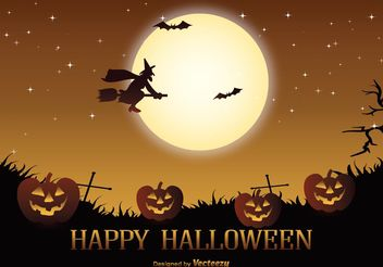 Halloween Vector Illustration - Free vector #145097