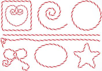 Free Vector Isolated Candy Stripe Rope Set - Free vector #145107