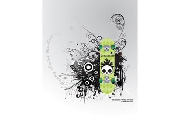 Skate Graphics - Free vector #145147