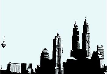 Kuala Lumpur Skyline - Free vector #145237