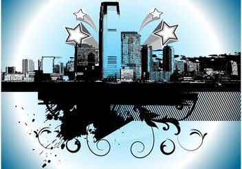 Graffiti City - Free vector #145277