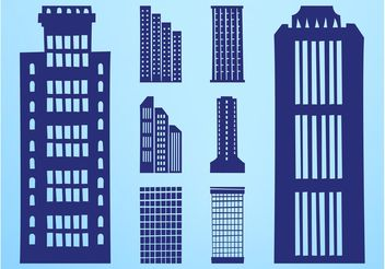 Skyscrapers Silhouettes Set - vector gratuit #145317