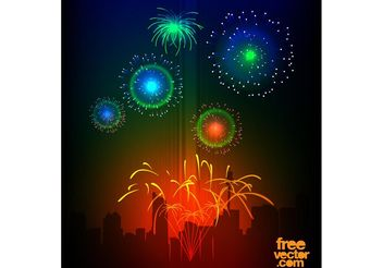 Vector Fireworks - Free vector #145337