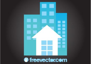 House And Apartment Blocks - vector gratuit #145387