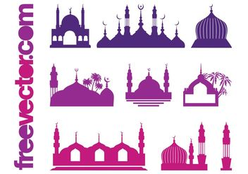 Islamic Buildings - Free vector #145397