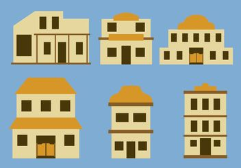 Old Western Town Building Vectors - бесплатный vector #145437