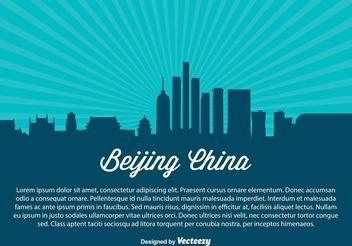 Beijing China Skyline Illustration - vector gratuit #145457
