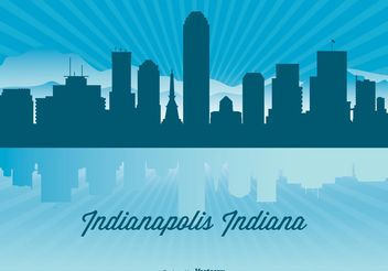 Indianapolis Skyline Illustration - бесплатный vector #145477
