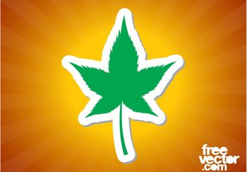 Marijuana Leaf Sticker - Free vector #145527
