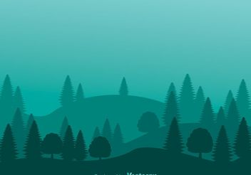 Mountain Forest Hills Background - vector gratuit #145557