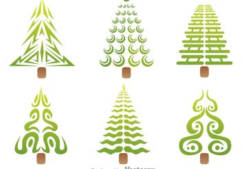 Stylized Tree Vector Icons - Free vector #145957
